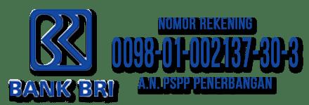 Rekening BRI PSPP Penerbangan
